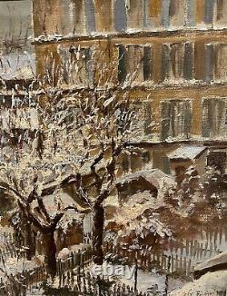 Tableau ancien Ecole De Paris, Jardins en hiver, 1916 daté