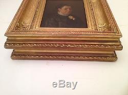 Tableau ancien Ecole Française XIXe Portraits de Femme et Homme Huile signée