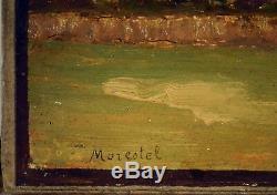 Tableau ancien, École Lyonnaise vers 1900. Paysage de Morestel