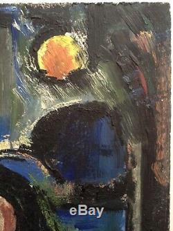 Tableau ancien Expressionniste Georges ROUAULT CHRIST au berceau Huile