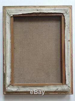 Tableau ancien Expressionniste Paysage au Moulin à eau Huile signée