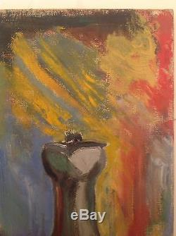 Tableau ancien Fauve goût Matisse Derain Nature morte huile sur toile avec cadre