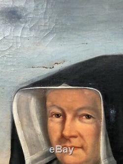 Tableau ancien, Grand portrait d'une mère supérieure