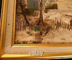 Tableau ancien Guy CAMBIER 1923-2008 peinture à l'huile scène rural authentique