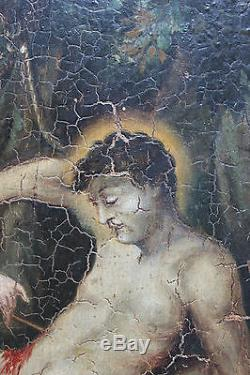 Tableau ancien HSP Scène mythologique Anonyme