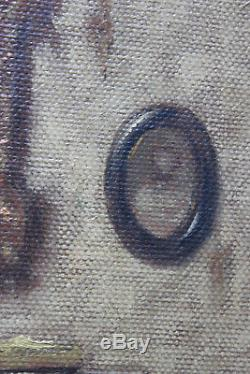 Tableau ancien HST Intérieur 1916 Paul VERDUSSEN (1868-1945) Ecole belge