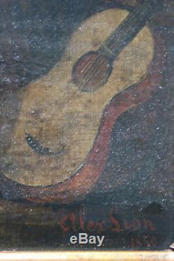 Tableau ancien HST Scène animé 1850 Alexandre Louis LION 1823-1852