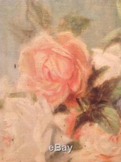 Tableau ancien Henri Fantin LATOUR Roses Huile sur toile