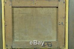 Tableau ancien Hst Marine Paysage animé départ de Pêche Bretagne signé J Vallet