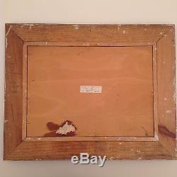 Tableau ancien Huile Louis MOREL Paysage Eglise Bourg en Bresse Musée de Broue