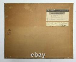 Tableau ancien, Huile sur carton toilé, Paysage marin, Côte rocheuse, XXe