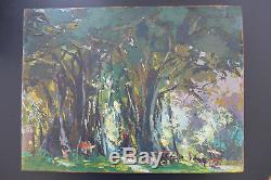 Tableau ancien Huile sur isorel Nguyen Tri-Minh (1925-2010) peintre vietnamien