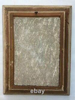Tableau ancien, Huile sur plaque de Fibrociment, Baigneuses, Encadré, Début XXe