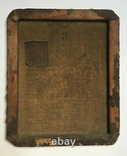Tableau ancien, Huile sur toile, Jeune fille assoupie, Le modèle endormi, XIXe