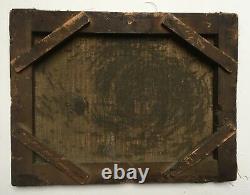 Tableau ancien, Huile sur toile, Scène de taverne, Ecole du Nord, XIXe ou avant