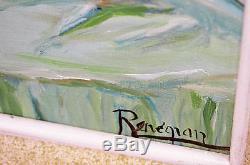 Tableau ancien Huile sur toile femme nue signée FRANCE