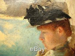 Tableau ancien Impressionniste Huile, signé