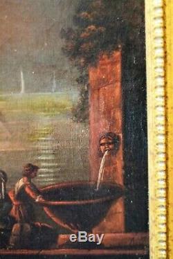 Tableau ancien Incendie