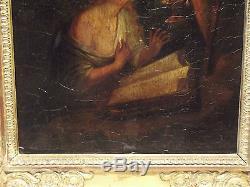 Tableau ancien Marie Madeleine XVIII ou XIX ème sur panneau de bois