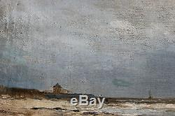 Tableau ancien Marine Anonyme Superbe