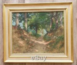 Tableau ancien Paysage Ariège Albert Regagnon 1874/1961