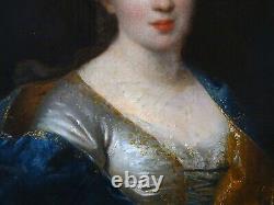 Tableau ancien Portrait de femme Ecole française du XVIIIe siècle Encadré