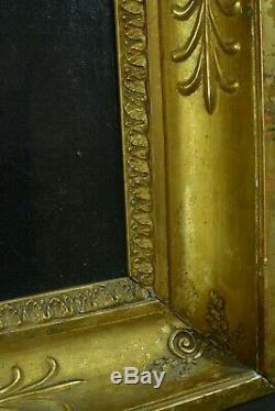 Tableau ancien Portrait de jeune homme Costume redingote Napoleon Italie HST 19e