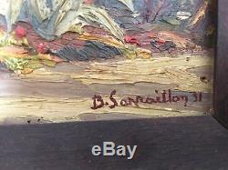 Tableau ancien SARRAILLON Benjamin Orientaliste 1931 Sur Panneau