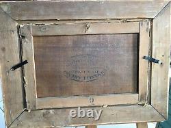 Tableau ancien XIXeme Paysage De Plage À Marée Basse Anonyme. HST 40x26hc