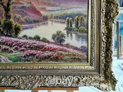 Tableau ancien XIXeme Vallée du crozant par G. Anglade (1854-1919) 54x65 cm HC