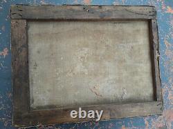 Tableau ancien à restaurer scène à l'Antique monogramme à identifier