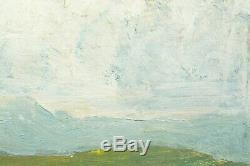 Tableau ancien belle étude de ciel Sennelier pays basque N°1 hsp