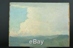 Tableau ancien belle étude de ciel Sennelier pays basque N°9 hsp