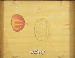 Tableau ancien belle étude de ciel Sennelier pays basque bord de mer N°3 hsp