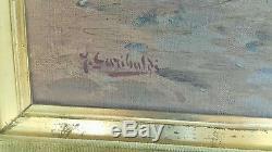 Tableau ancien benezit joseph garibaldi huile marseille authentique