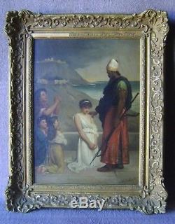 Tableau, ancien, bible, orientaliste, Peintres Troubadours, pompier, mythologie