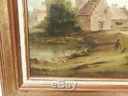 Tableau ancien école Hollandaise 18 19 ème