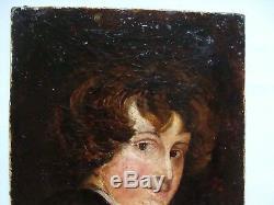 Tableau ancien école française 19e d'après Van Dyck