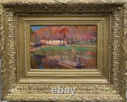 Tableau ancien, ecole française Post impressionniste Pont-Aven, 1900