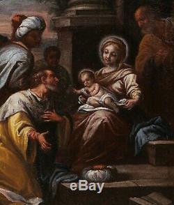 Tableau ancien école vénitienne Adoration des Mages Venise Renaissance BASSANO