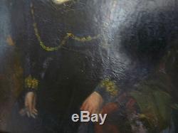 Tableau ancien, femme de maréchal d'empire, Napoléon, peinture ancienne, tableau