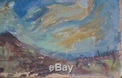 Tableau ancien, huile par François Albert Quelvée 1884-1967