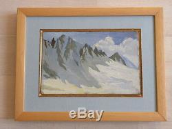 Tableau ancien huile paysage de montagne (1) circa 1940 bonne facture a voir ++