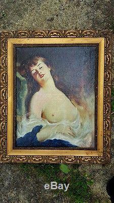 Tableau ancien huile signé M. Waiss