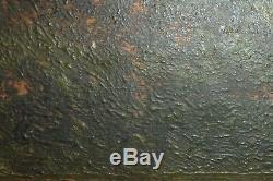 Tableau ancien, huile sur bois, Normandie, école de Barbizon fin 19°
