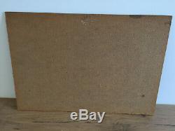 Tableau ancien huile sur panneau DORPE E (XIXe-s) berger