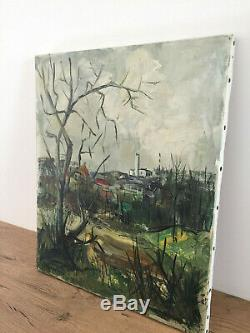 Tableau ancien huile sur toile JEAN MICHEL BERMYN (XXe-s) phare du gris nez