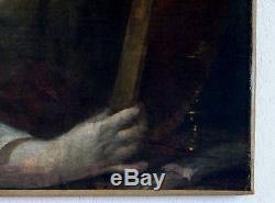 Tableau ancien, huile sur toile XVIIème siècle, école du nord Marie-madeleine