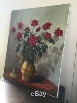 Tableau ancien huile sur toile à définir (XXe-s) nature morte