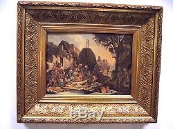 Tableau ancien, huile sur toile, dim. 31 x 42,5 cm